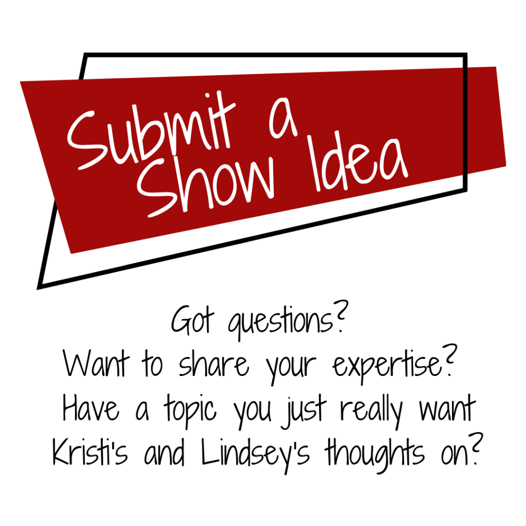 Submit a show idea if there's something you think would make a great ARDL episode